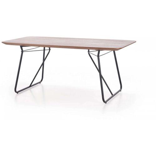 Houston stół orzech / czarny Halmar