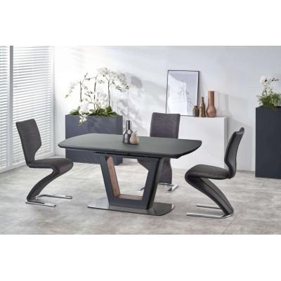 Bilotti stół rozkładany antracytowy mat / orzech Halmar