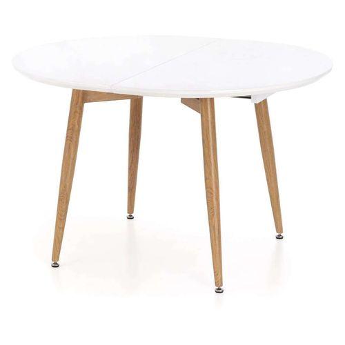 Caliber stół rozkładany biały / dąb san remo Halmar