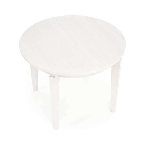 Sorbus stół rozkładany okrągły biały Halmar