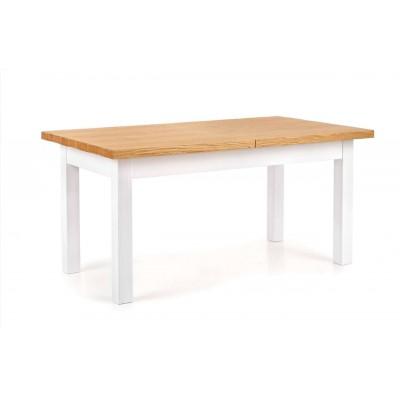 Leonardo stół biały / dąb miodowy Halmar