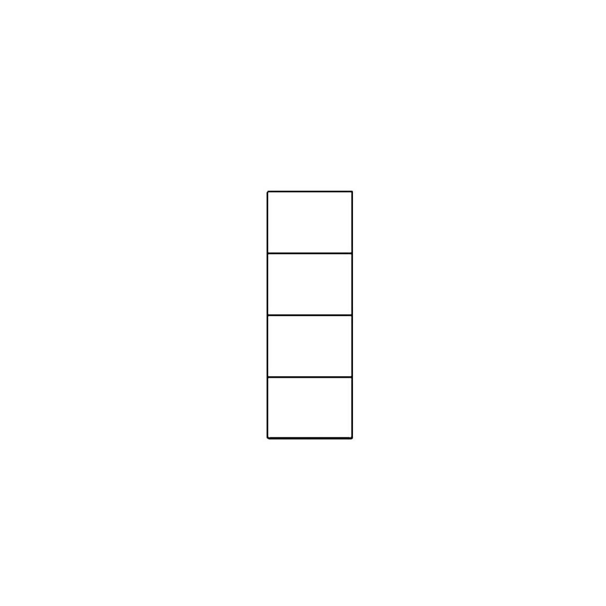 Regał Selene biały połysk Typ 10