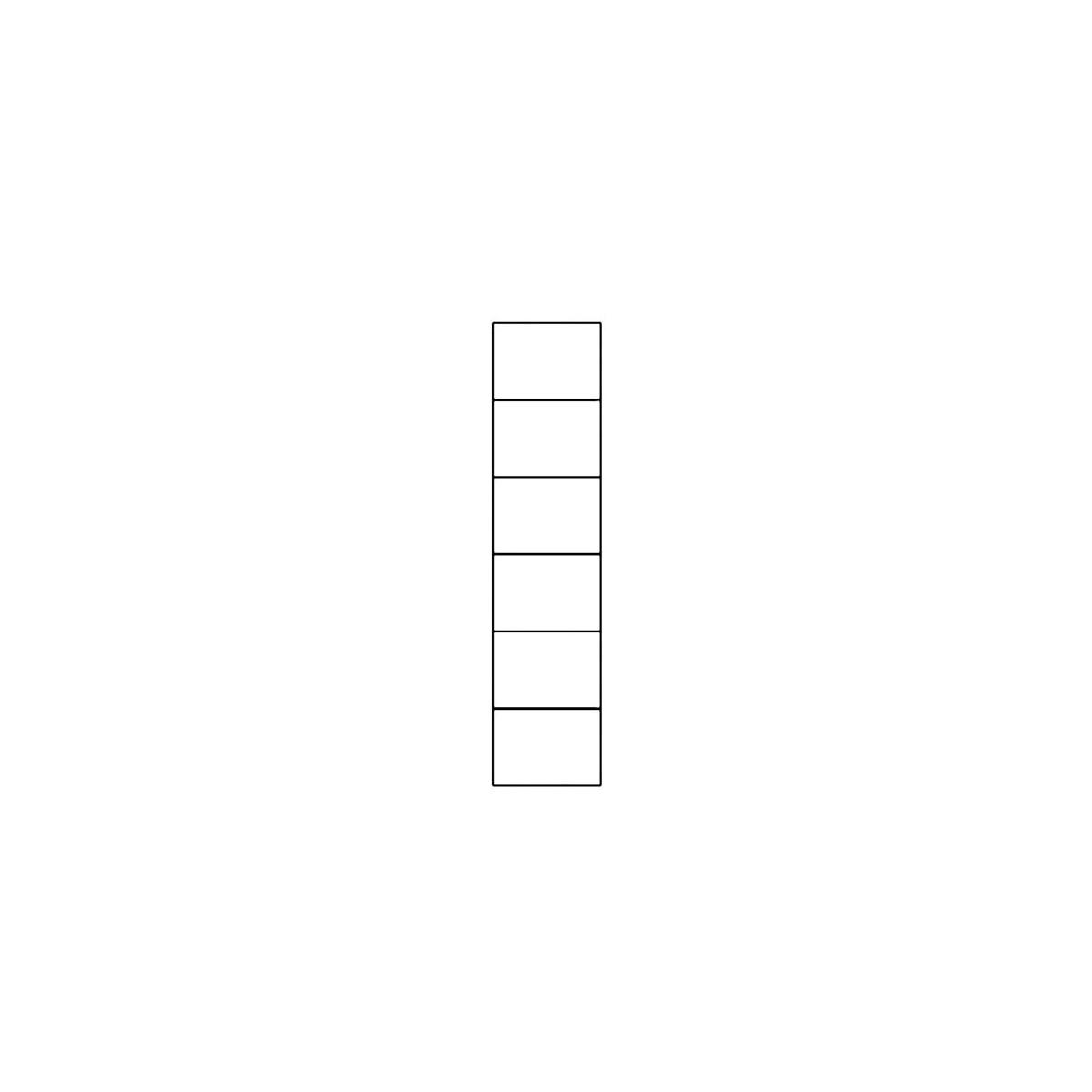 Regał Selene biały połysk Typ 12