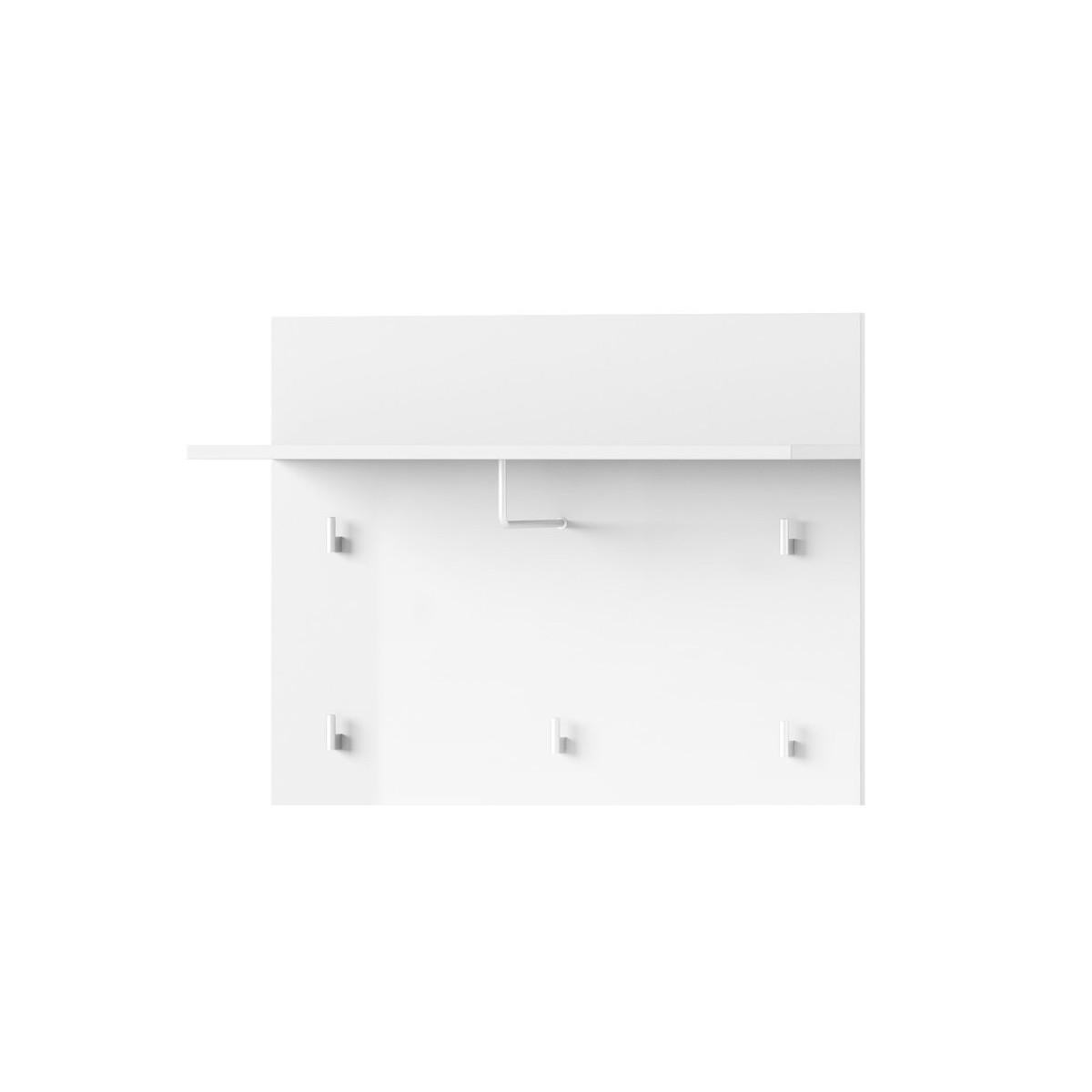 Panel z wieszakami Selene biały połysk Typ 20