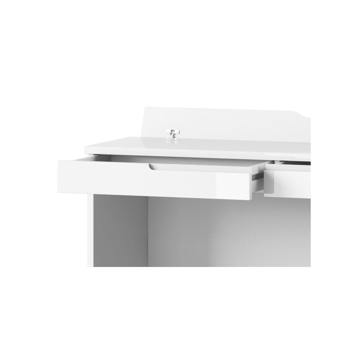 Toaletka Selene biały połysk Typ 31