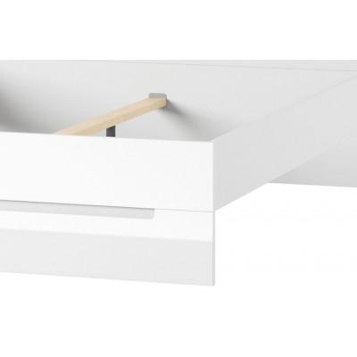 Łóżko 160 cm Selene biały połysk 33 Szynaka Meble