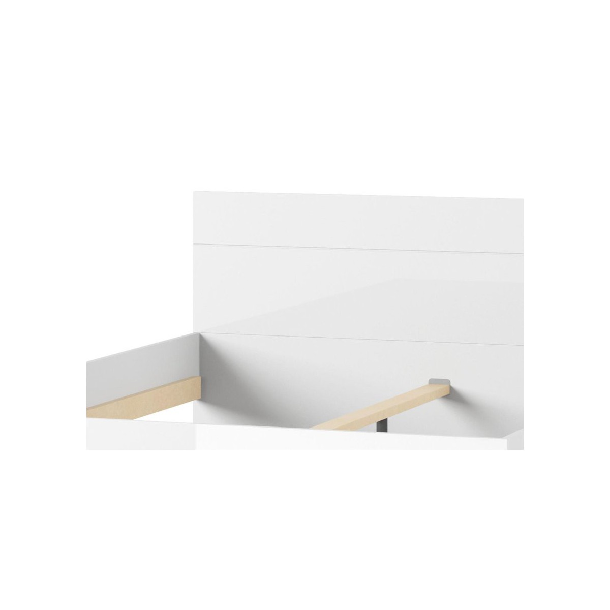 Łóżko 180 cm Selene biały połysk Typ 35