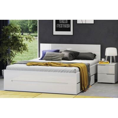 Łóżko 180 cm Selene biały połysk 35 Szynaka Meble