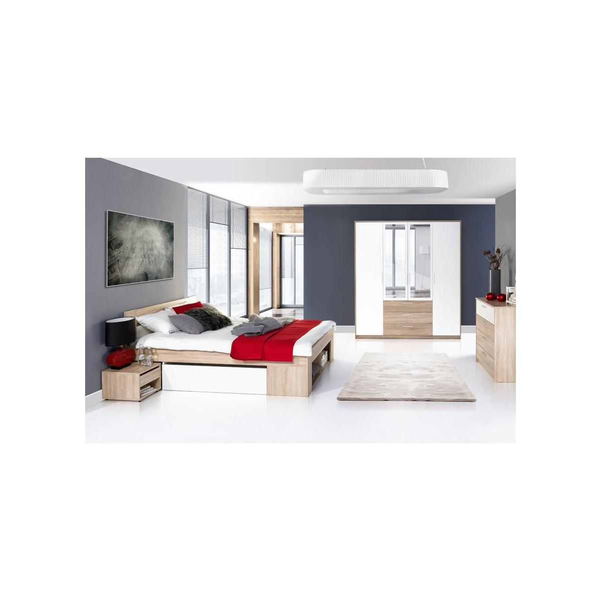 Łóżko 160 cm + 2 szafki nocne Milo Typ 09