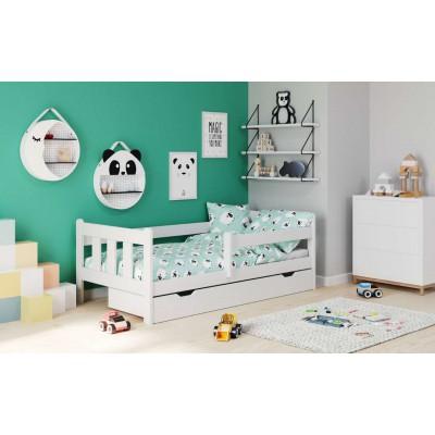 Marinella łóżko dla dziecka białe drewno lite sosna Halmar