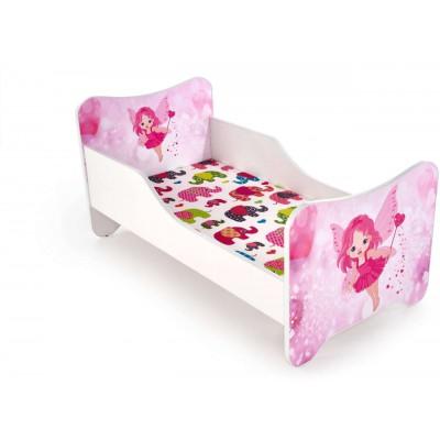 Happy fairy łóżko dla dziewczynki biało-różowe Halmar