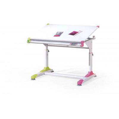 Collorido biurko biało-zielono-różowy Halmar