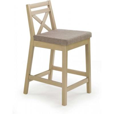 Borys niskie krzesło barowe tapicerowane dąb sonoma Halmar