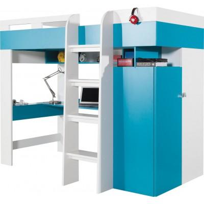 Mobi MO20 łóżko piętrowe z biurkiem  Meblar