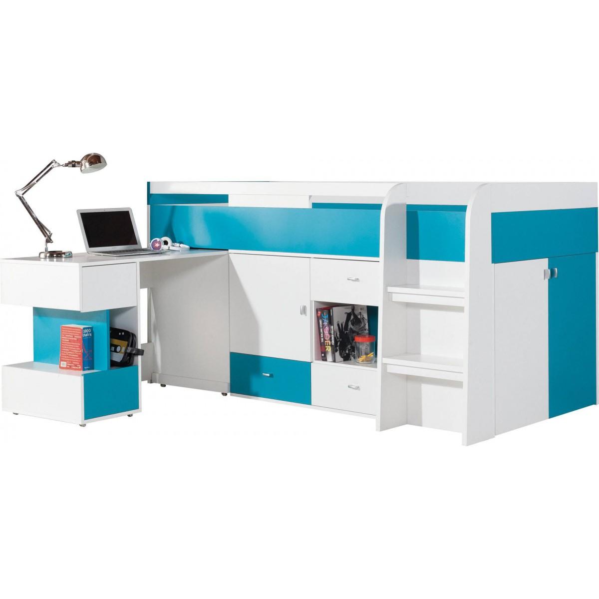 Mobi MO21 łóżko piętrowe z biurkiem