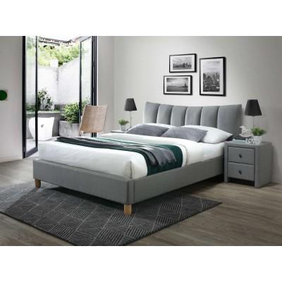 Sandy 2 łóżko 160 tapicerowane popiel Halmar