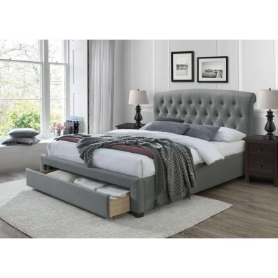Avanti 160 łóżko tapicerowane drewno lite Halmar