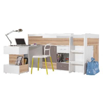 Blog BL21 łóżko piętrowe z biurkiem Meblar