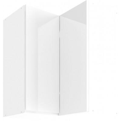 Vegas White UNO 60 Szafka wisząca z drzwiami otweiranymi osobno