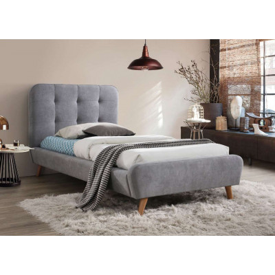 Łóżko Tiffany 90x200 kolor szary dąb tap. 57