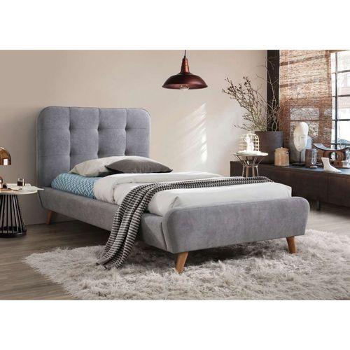 Łóżko Tiffany 90x200 kolor szary dąb tap. 57 Signal