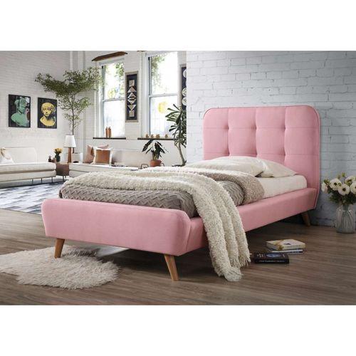 Łóżko Tiffany 90x200 kolor różowy dąb tap. 58 Signal