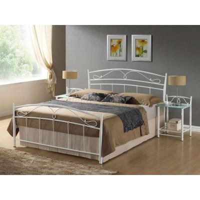 Łóżko Siena 140 metalowe białe Signal