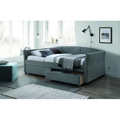 Łóżko Lanta 90x200 szare z szufladami Signal