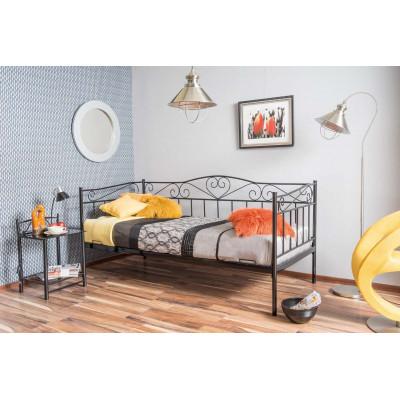 Łóżko Birma 90x200 metalowe czarne
