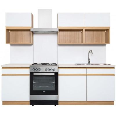 Komplet kuchenny Semi Line 180 Black Red White