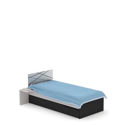 Łóżko X DARK 90x200cm Meble Meblik