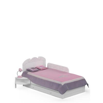 Łóżko Bianco Fiori 90x190 Meble Meblik