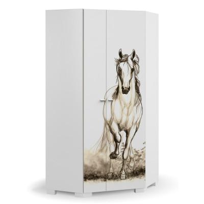 Szafa narożna Horse White Meble Meblik