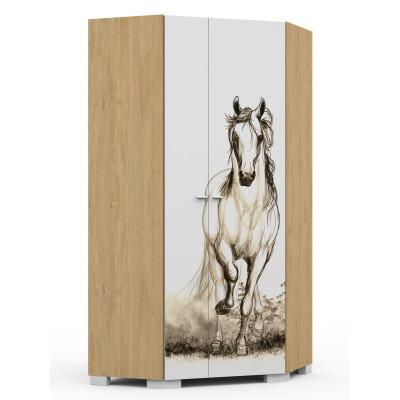 Szafa narożna Horse Oak Meble Meblik