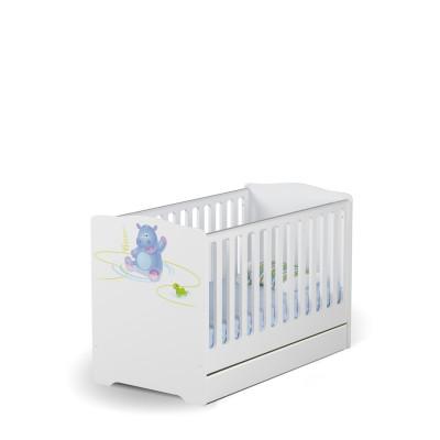 Łóżeczko Baby 70x140 HAPPY ANIMALS WHITE Meble Meblik