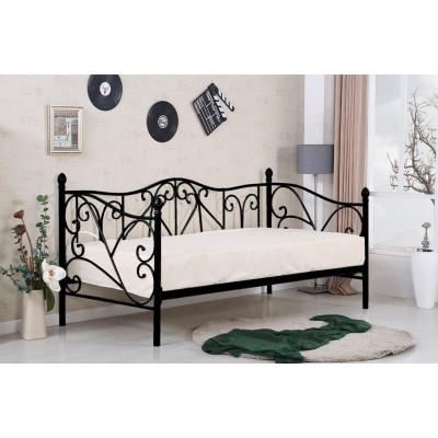 Sumatra łóżko 90 metalowe czarne