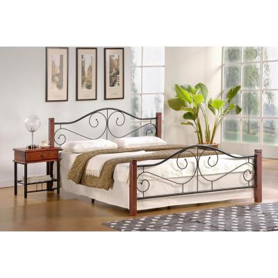 Violetta łóżko 160 czereśnia antyczna czarny ze stelażem