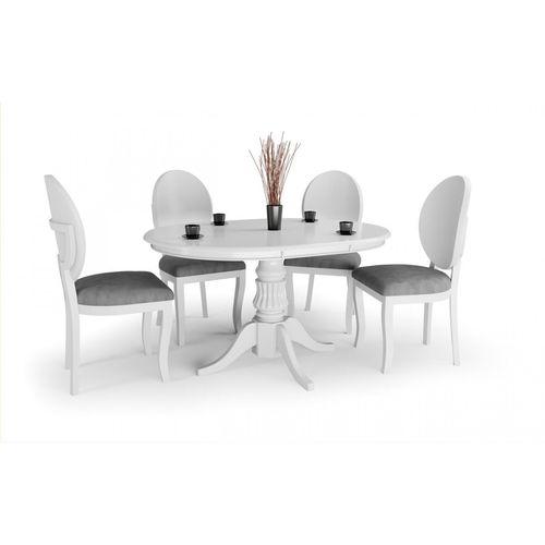 William stół rozkładany biały okrągły 90