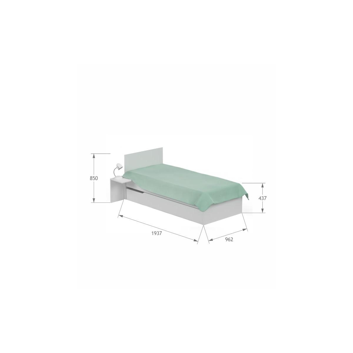 Łóżko 90x190 UNI White