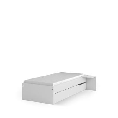 Łóżko 120x200 niskie UNI White