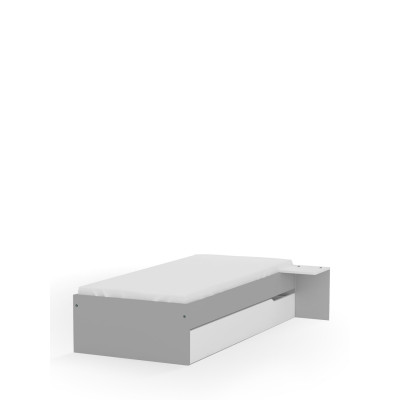 Łóżko 90x200 niskie UNI Grey