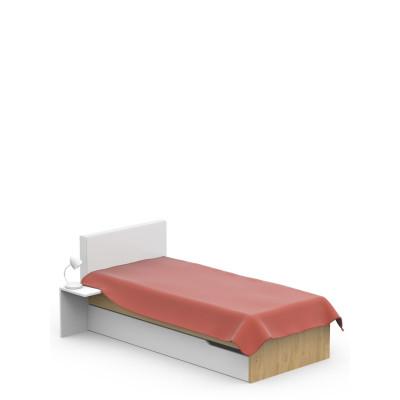 Łóżko tapicerowane 90x190 UNI Oak