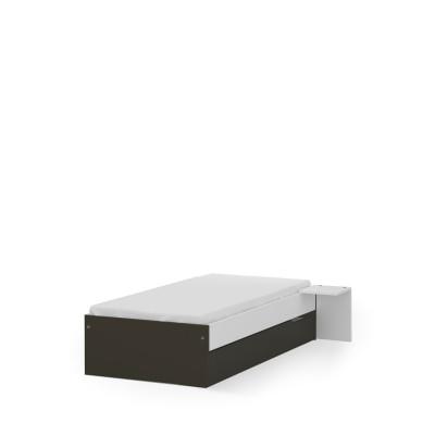 Łóżko 90x190 niskie UNI Dark