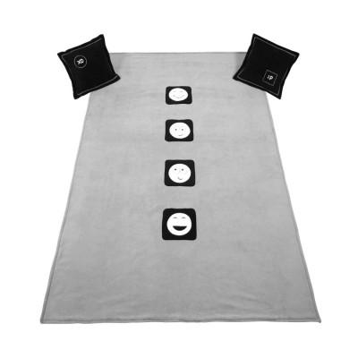 Narzuta + 2 poduszki UNI Dark