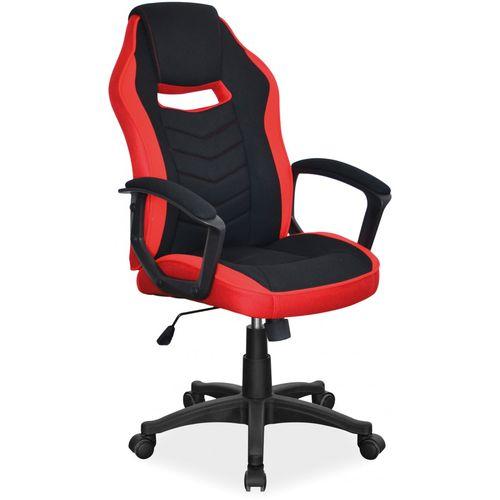 Fotel Obrotowy camaro czarny czerwony