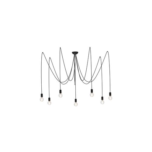 Lampa Spider Black VII