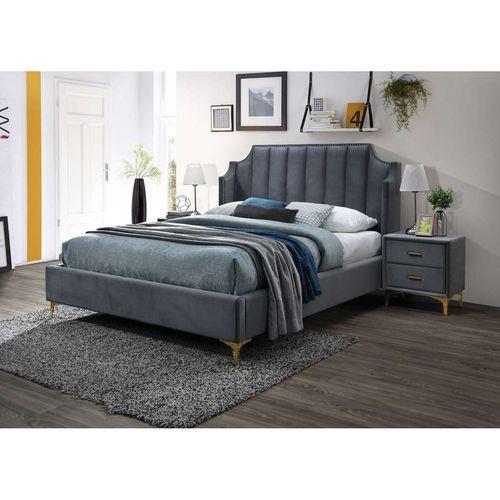 Łóżko Monako velvet 160 szary bluvel 14