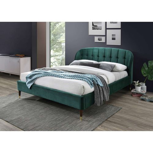 Łóżko Liguria velvet 160 zielone c.brąz bluvel 78
