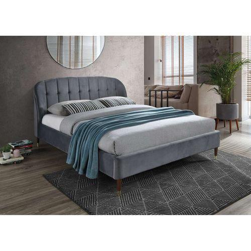 Łóżko Liguria velvet 160 szare c.brąz bluvel 14