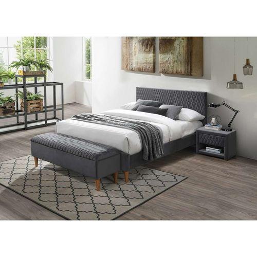 Łóżko Azurro velvet 160 szare bluvel 14